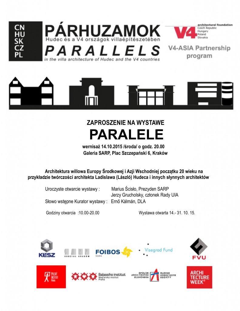 Zaproszenie Paralele_Warszawa 14.10.2015_ Invitation PL2