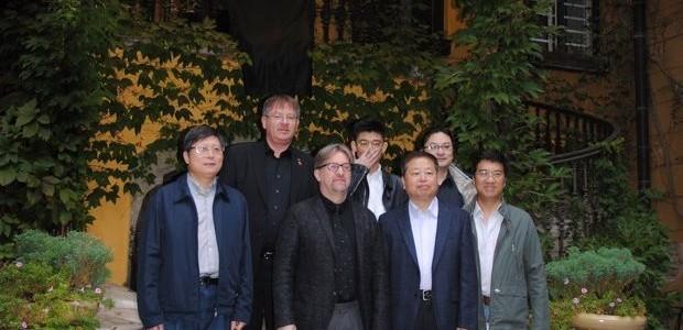 A Shanghai Építészek Szövetségének ASSC látogatása a Magyar Építőművészek Szövetségének AHA székházában a V4 Építészeti Alapítvány V4AF meghívására 2016. 10. 25.-én