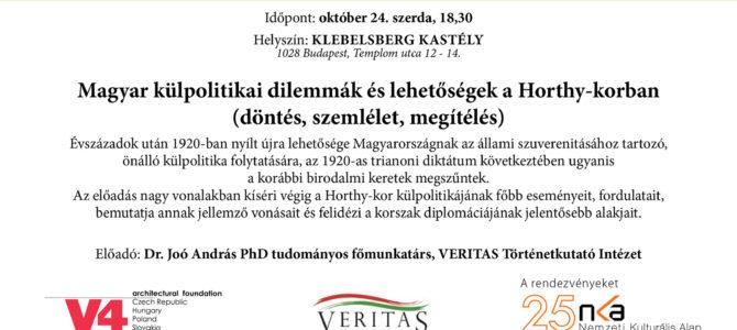 Magyar külpolitikai dilemmák és lehetőségek a Horthy-korban