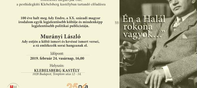 Meghívó – 100 éve halt meg Ady Endre