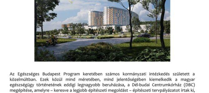 MEGHÍVÓ – Milyen lesz a Dél-budai Centrumkórház?
