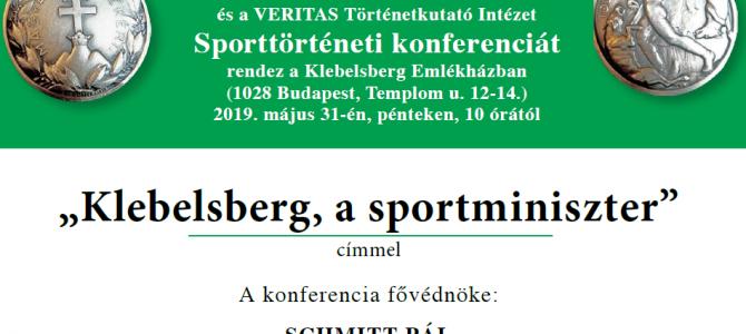 KLEBELSBERG, A SPORTMINISZTER
