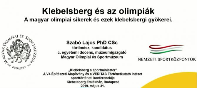 Klebelsberg, a sportminiszter c. sporttörténeti konferencia – Dr. Szabó Lajos előadása