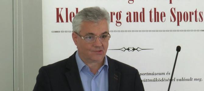 Klebelsberg, a sportminiszter c. sporttörténeti konferencia – előadás – Ujváry Gábor