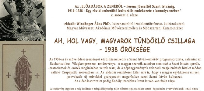 Ah, hol vagy, magyarok tündöklő csillaga – 1938 öröksége