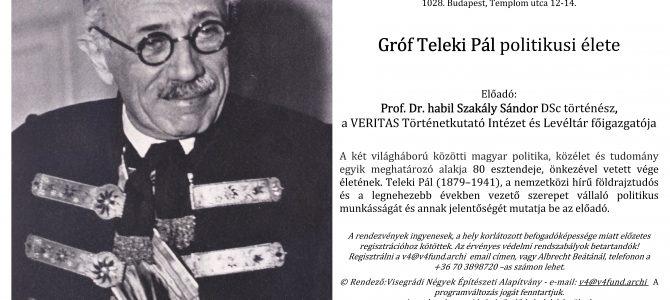 Gróf Teleki Pál politikusi élete